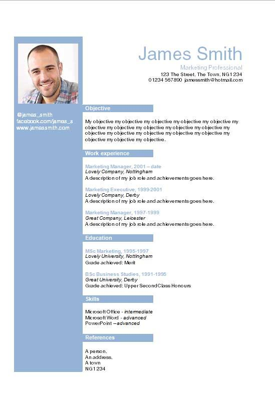 Helvetica Blue Layout Word Cv Template  How To Write A Cv  Leo