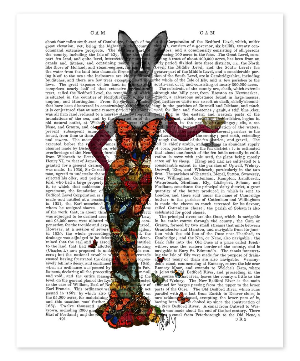 Look at this #zulilyfind! Rabbit Butterfly Dress Dictionary Print by FabFunky #zulilyfinds