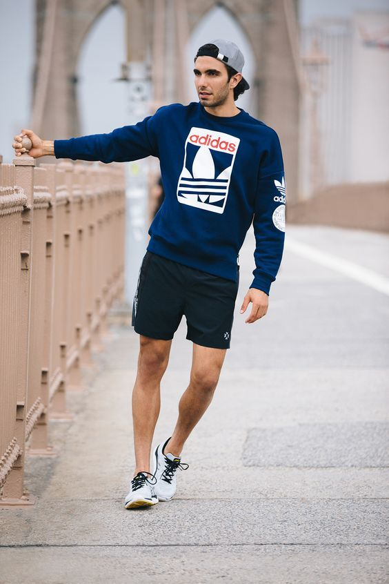 Sweatshirt paired with shorts for a early morning run c57b27dd27