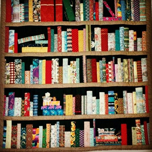 Quilted bookshelf