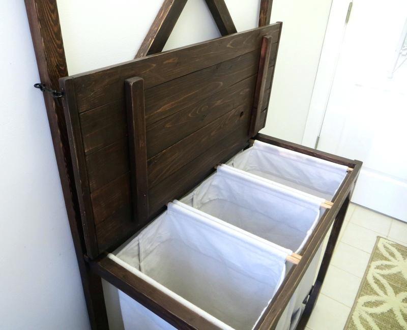 Wooden Laundry Sorter Diy Laundry Sorter Wood Laundry Hamper