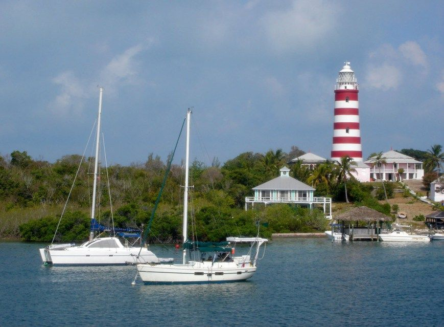 Bahamas Abaco Hope Town Elbow Cay Boat Lighthouse Heart Home Boat Lighthouse Fishing Boats