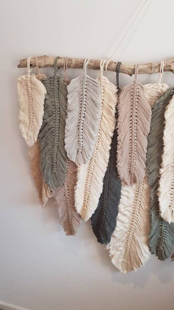 Feather wall macrame hanging #macrame