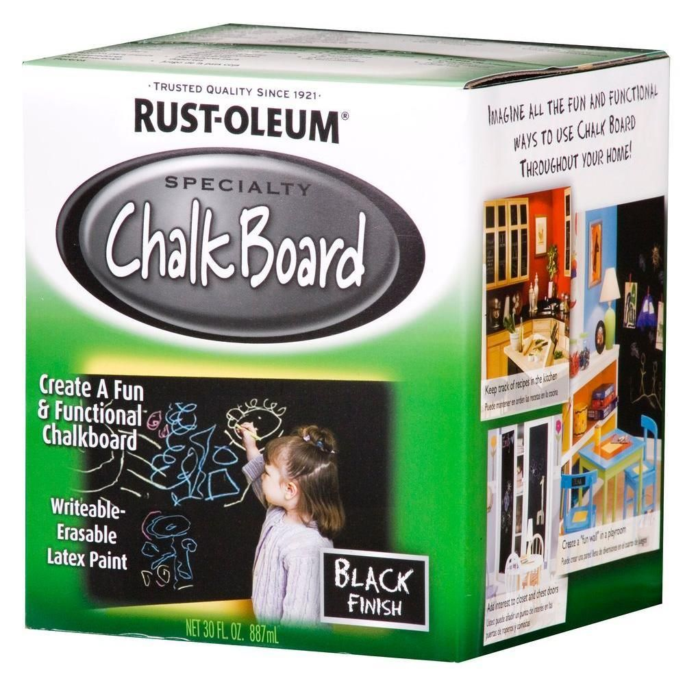 Pin By The Home Depot On Chalkboard Paint Black Chalkboard Paint Rustoleum Chalkboard Paint