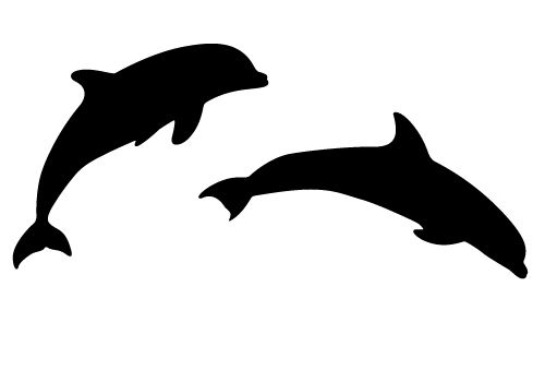 two beautiful dolphin silhouette vector sheer joy free download rh pinterest ca free dolphin clipart illustrations free dolphin clipart black and white