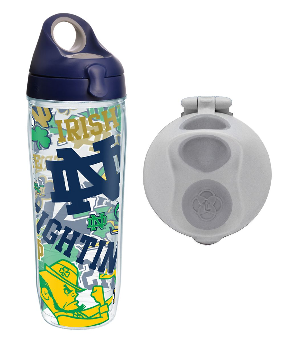 d41585d5d5793 Notre Dame Fighting Irish 24-Oz. Water Bottle with Two Lids ...