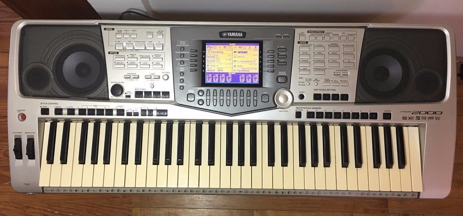 yamaha psr 2000 keyboard synthesizer functional power. Black Bedroom Furniture Sets. Home Design Ideas