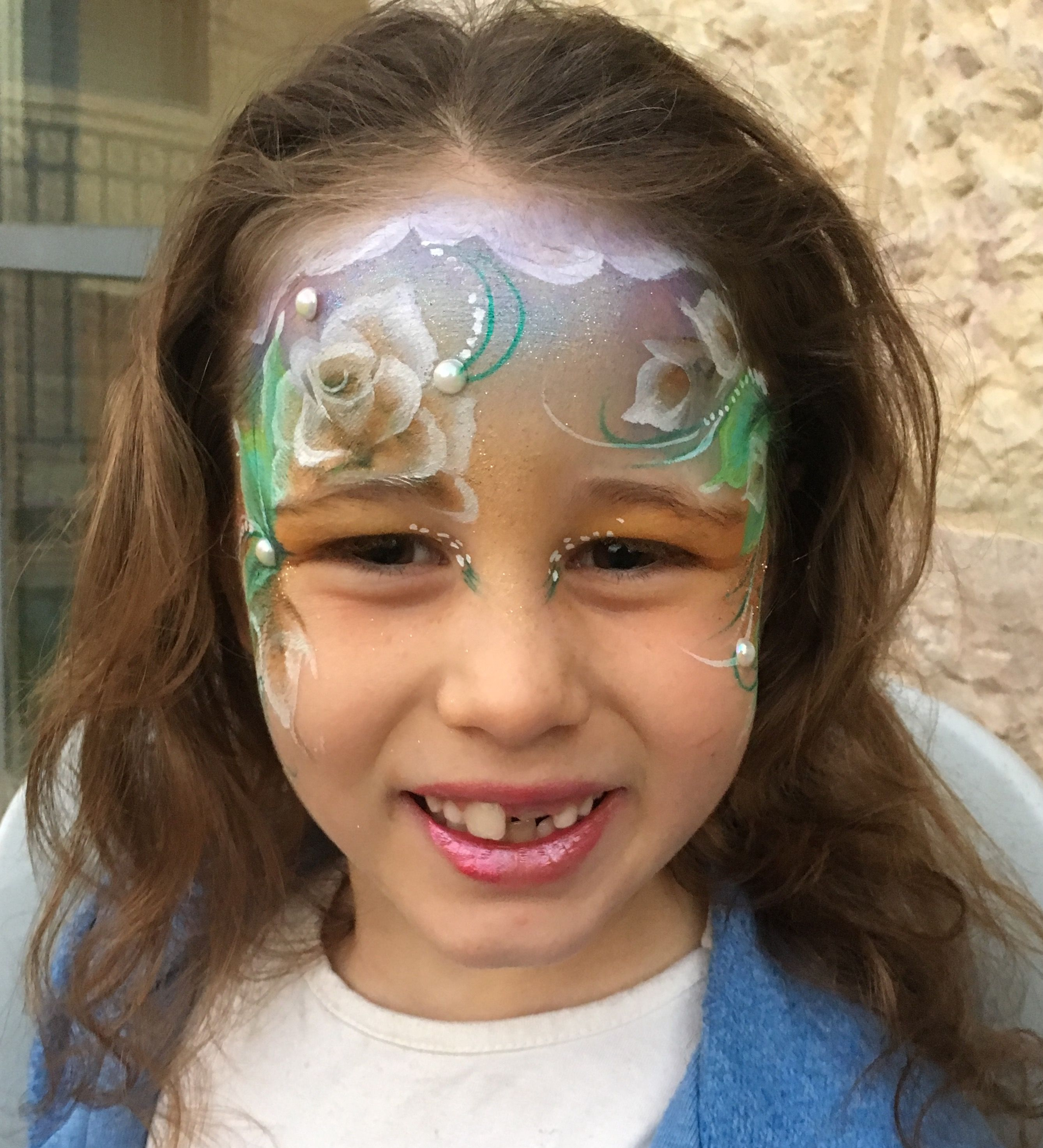 Henna By Leyla Shemesh: White Rose Fairy By Leylashemesh Faceart And Henna. (With