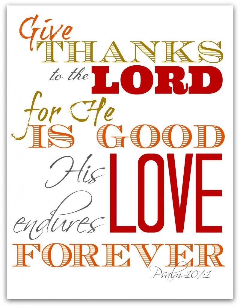 Free scripture verse thanksgiving printables diy ideas free scripture verse thanksgiving printables kristyandbryce Choice Image