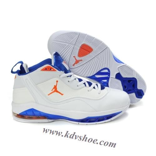 Air Jordan Melo M8 Carmelo Anthony Shoes White Varsity Blue Orange