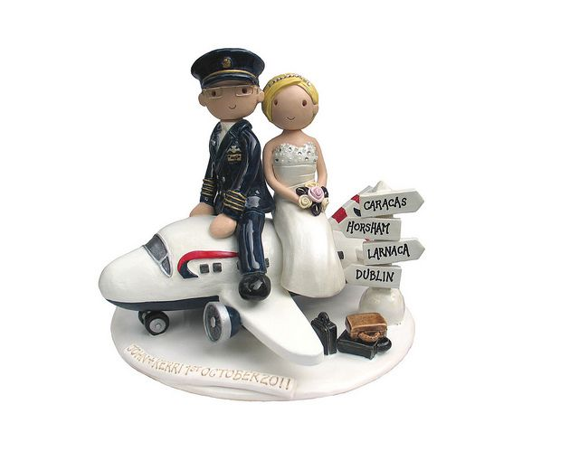 aircraft wedding cake airplane cake topper pilot wedding rustic 10633