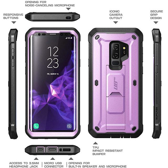 new style e6ddf 035b4 Supcase Unicorn Beetle Pro Rugged Case for Samsung Galaxy S9+ | Case ...