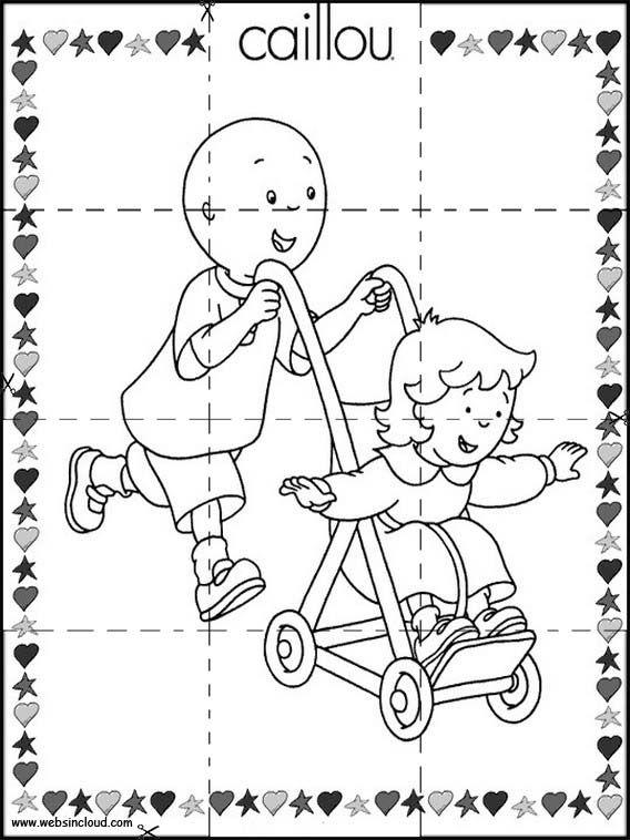 Puzzles Rompecabezas para imprimir para niños Caillou 7