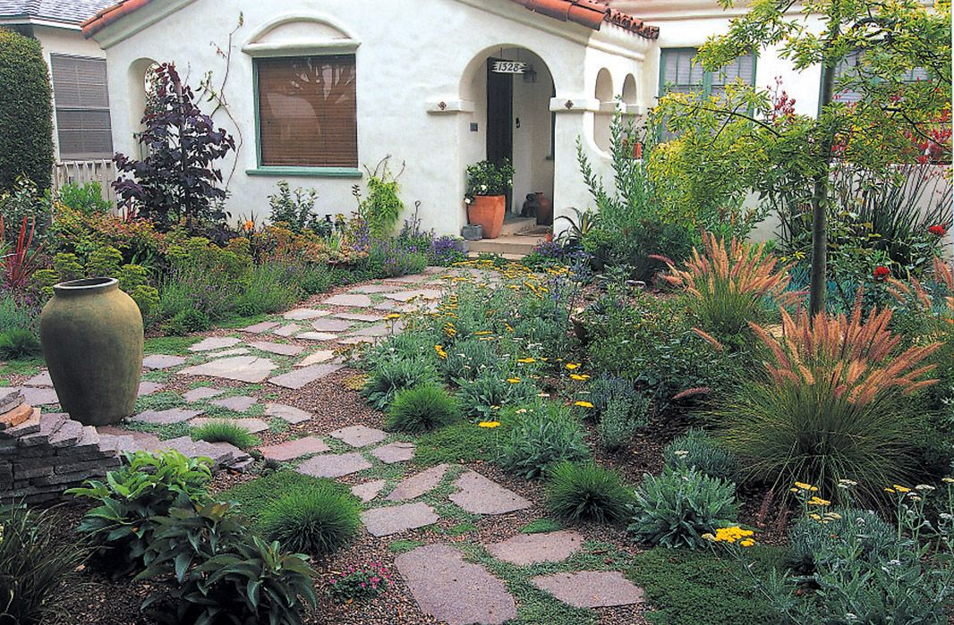Roses and succulents flower bed google search drought for Front door garden ideas