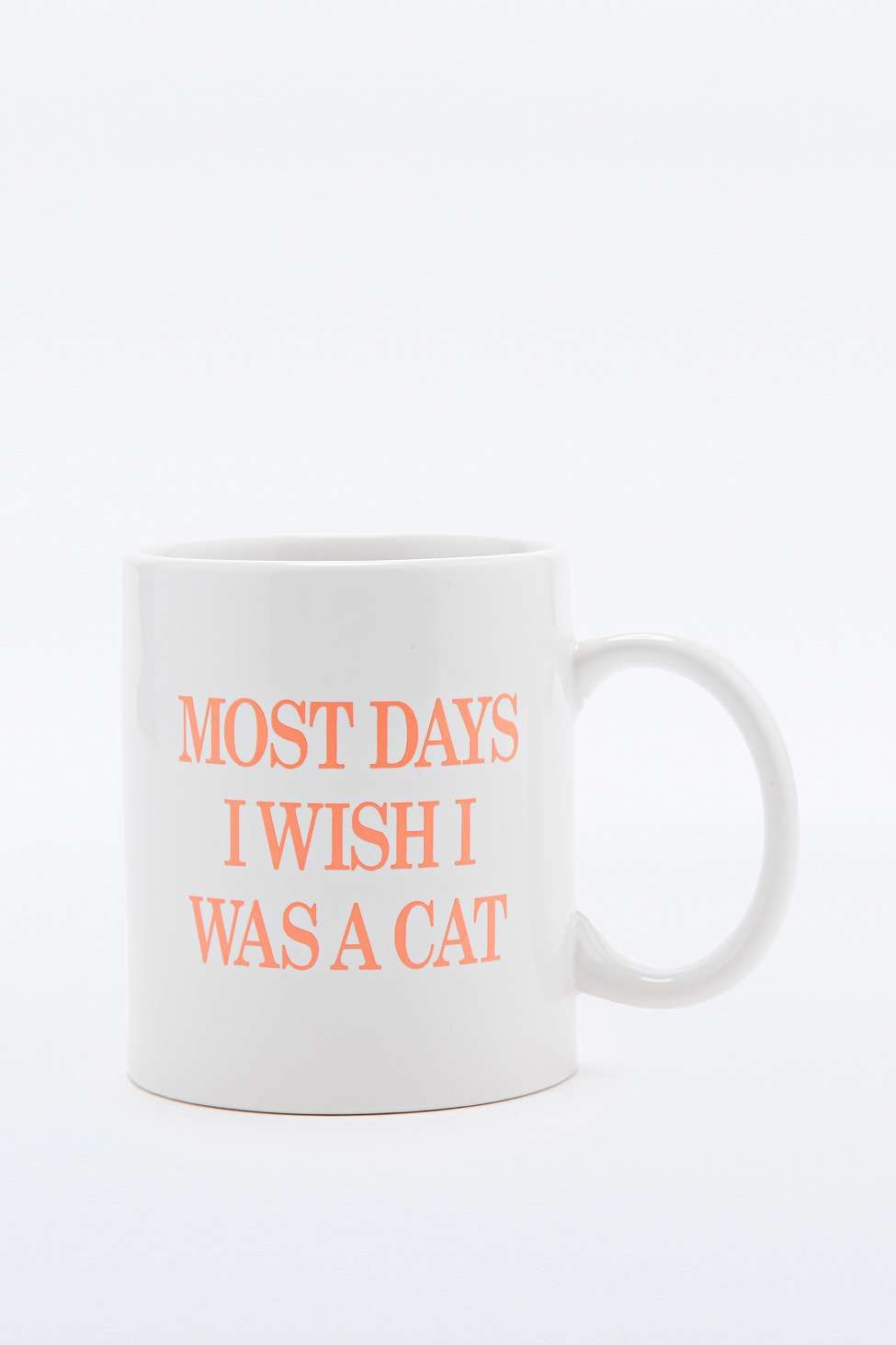 "Becher ""Most Days I Wish I Was A Cat"" - Urban Outfitters 
