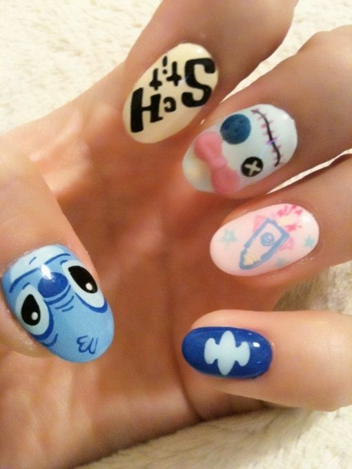 lilo and stich nail art | it s stitch and scrump | Disney ...