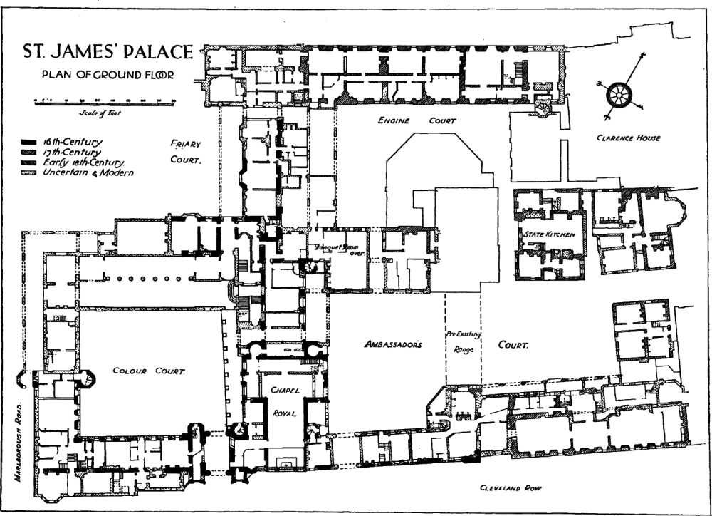 St. James's Palace, Westminster, ground floor plan ...