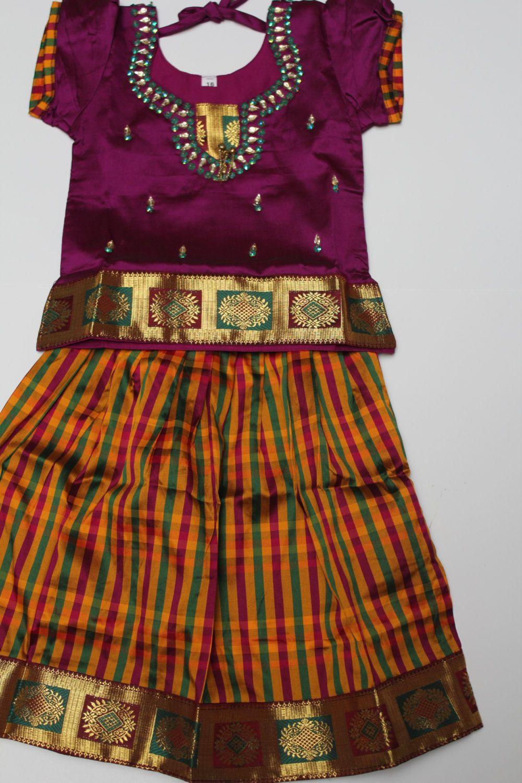 f9d5592143606 5 to 6 yrs girls pavadai set by ChennaiClothing on Etsy | Pattu ...