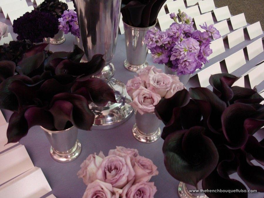Eggplant Colored Centerpieces Inspiring Wedding Event Fls A