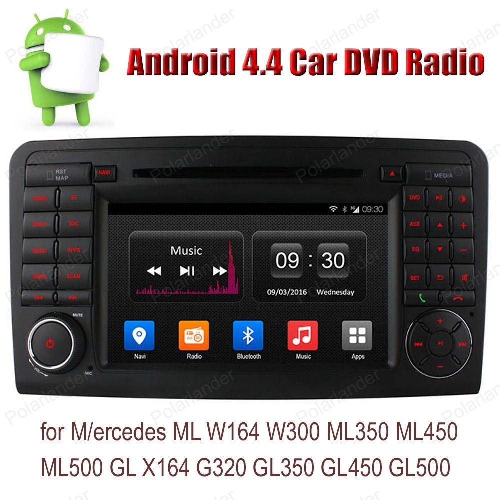 Android4.4 Car DVD CD radio stereo For M/ercedes ML W164 W300 ML350 ML450 ML500 GL X164 G320 GL350 GL450 GL500