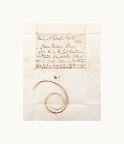 Lock of hair of Mary, Queen of Scots {x}