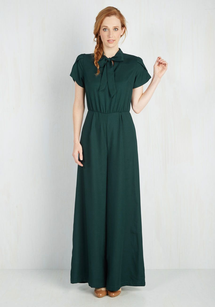 163b880ed64 Cause for Delectation Jumpsuit. Ensure your day will be totally delightful  by flaunting this teal jumpsuit first thing in the morning!  green  modcloth