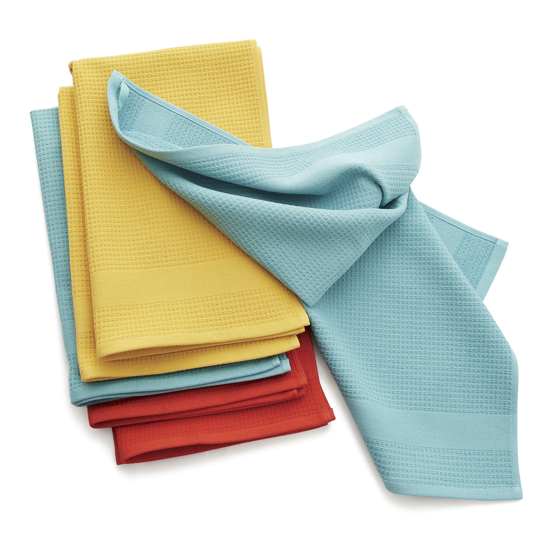 Waffle-Terry Aqua Dish Towels, Set of 2 | Pinterest | Aqua, Towels ...