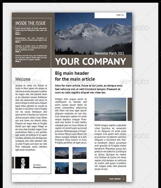 1000 images about Forms – Company Newsletter Template Free