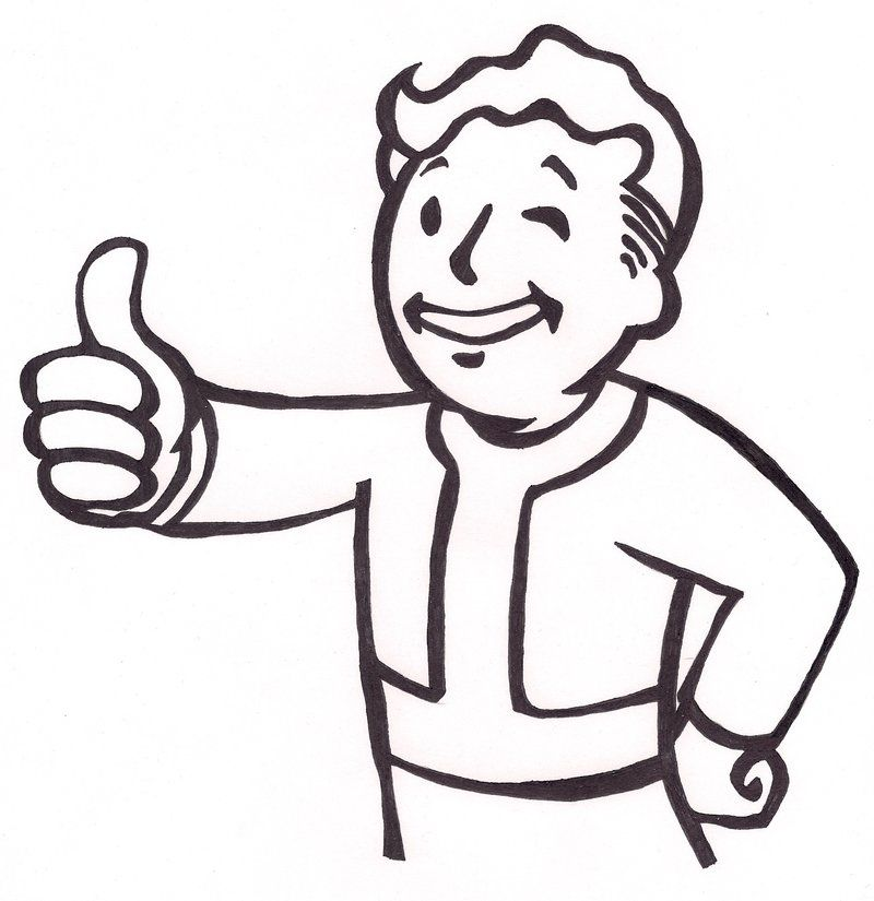 Go Back > Gallery For > Fallout Vault Boy Thumbs Up | Boy ...