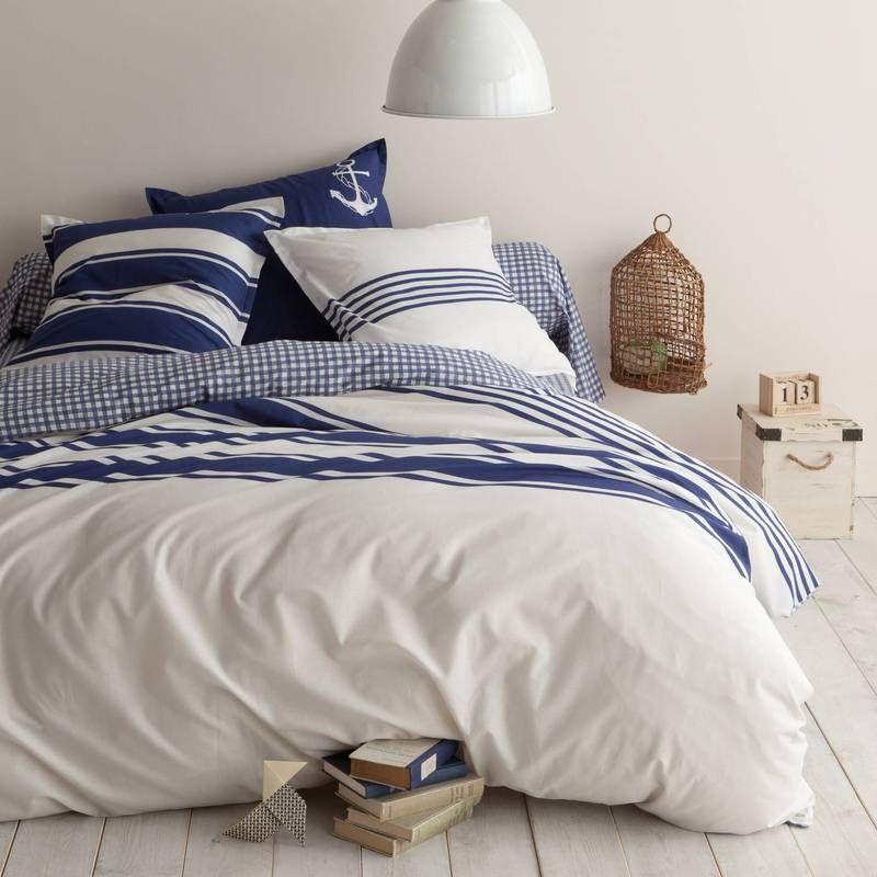 housse de couette coton imprim malo marins d 39 eau douce pinterest couette housse de. Black Bedroom Furniture Sets. Home Design Ideas