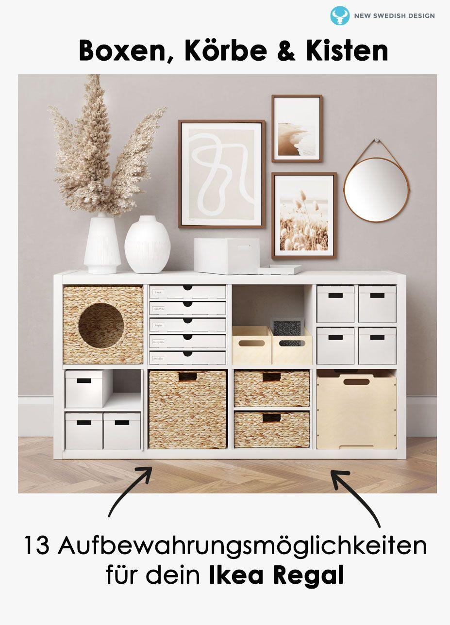 Boxen und Körbe Ikea Regal