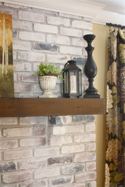 The Yellow Cape Cod White Washed Brick Fireplace Tutorial White