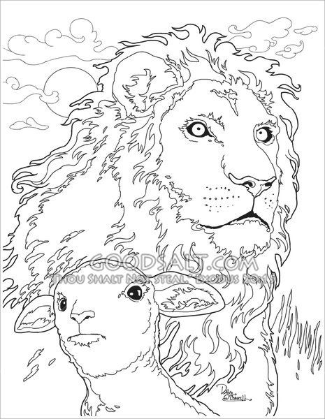 16 Bible Coloring Pages Lion And Lamb Bible Coloring Pages Lion And Lamb Bible Coloring