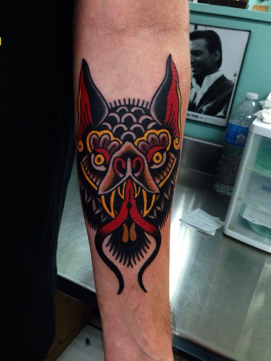 Traditional Bat By John Montalvo At Classic Tattoo San Marcos Tx