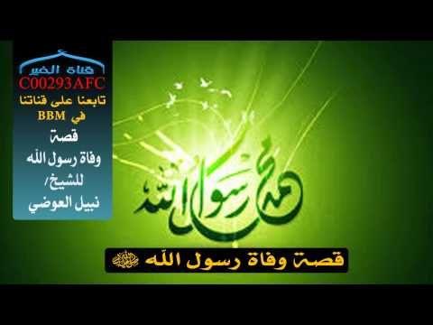 قصة وفاة رسول الله مؤثر جدا للشيخ نبيل العوضي Neon Signs Youtube Signs