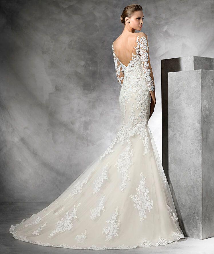 Low Waist Wedding Gowns: TIBET - Low Waist Wedding Dress