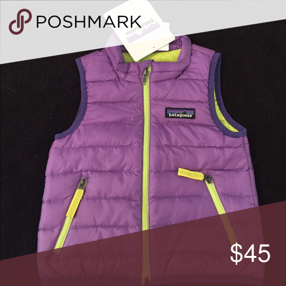 Nwt Patagonia Baby Down Sweater Vest Purplelime Nwt My Posh Picks