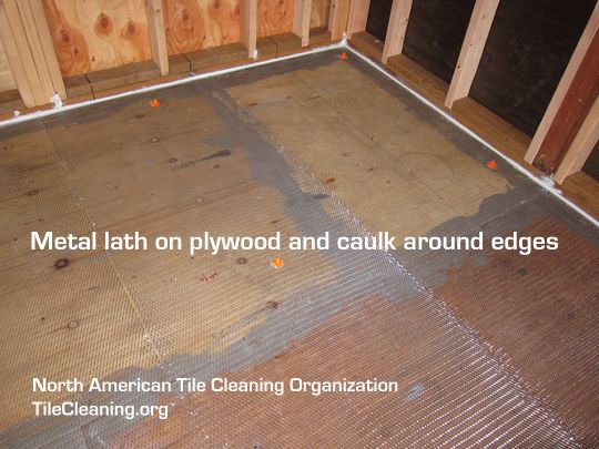 Metal Lath On Plywood On Wooden Subfloor Before Self Leveling