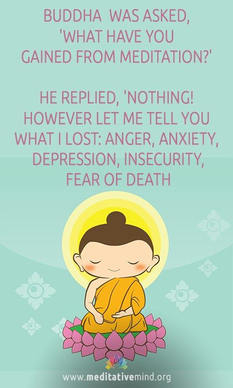 Buddha was asked, 'What have you gained from meditation ...