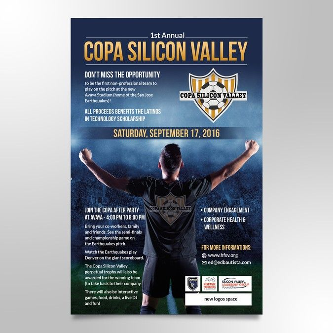 Design A Flyer For Copa Silicon Valley By Greencherry Soccer Tournament Scholarships Family Wellness