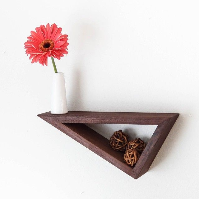 I know there's a perfect spot for this chic little beauty in your home.  Add modern + clean design with the Black Walnut Floating Geometric Shelf. Handmade by @fernwehwoodworking. On tonight at Midnight MDT on {Jane.com}! #sneakpeekage #janedeals