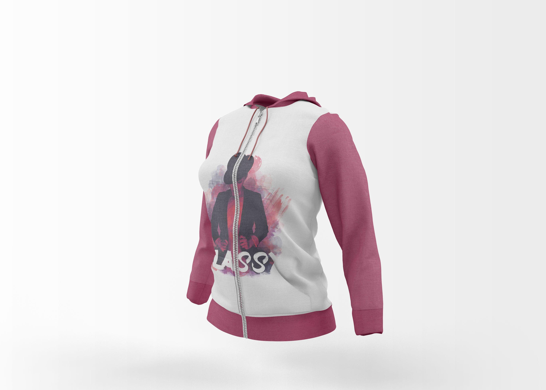 Download Free Girl Hoodie Jacket Mockup Hoodie Girl Mockup Free Psd Logo Mockup