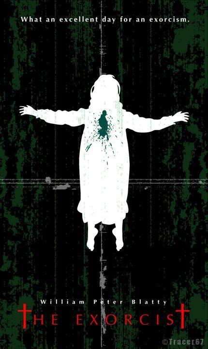 the exorcist 1973 art poster horror