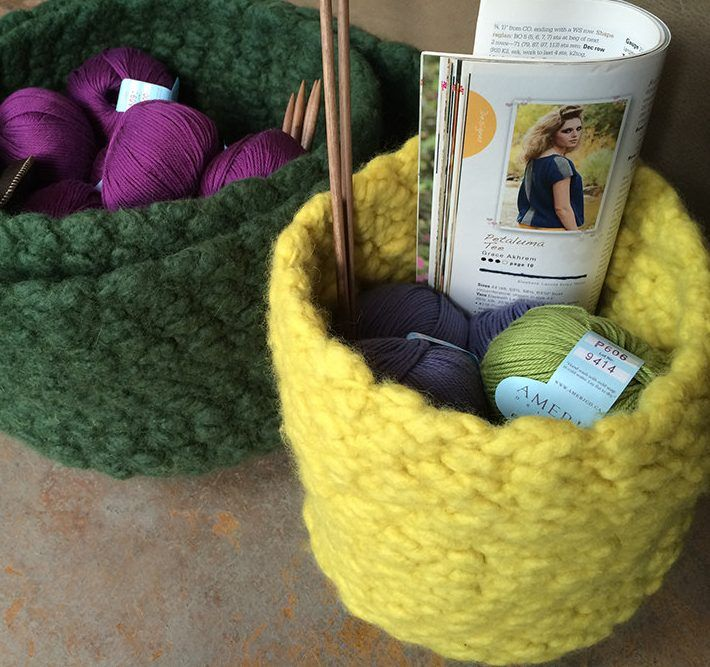 Free Knitting Pattern For Ellenesque Felted Bowl Art Play