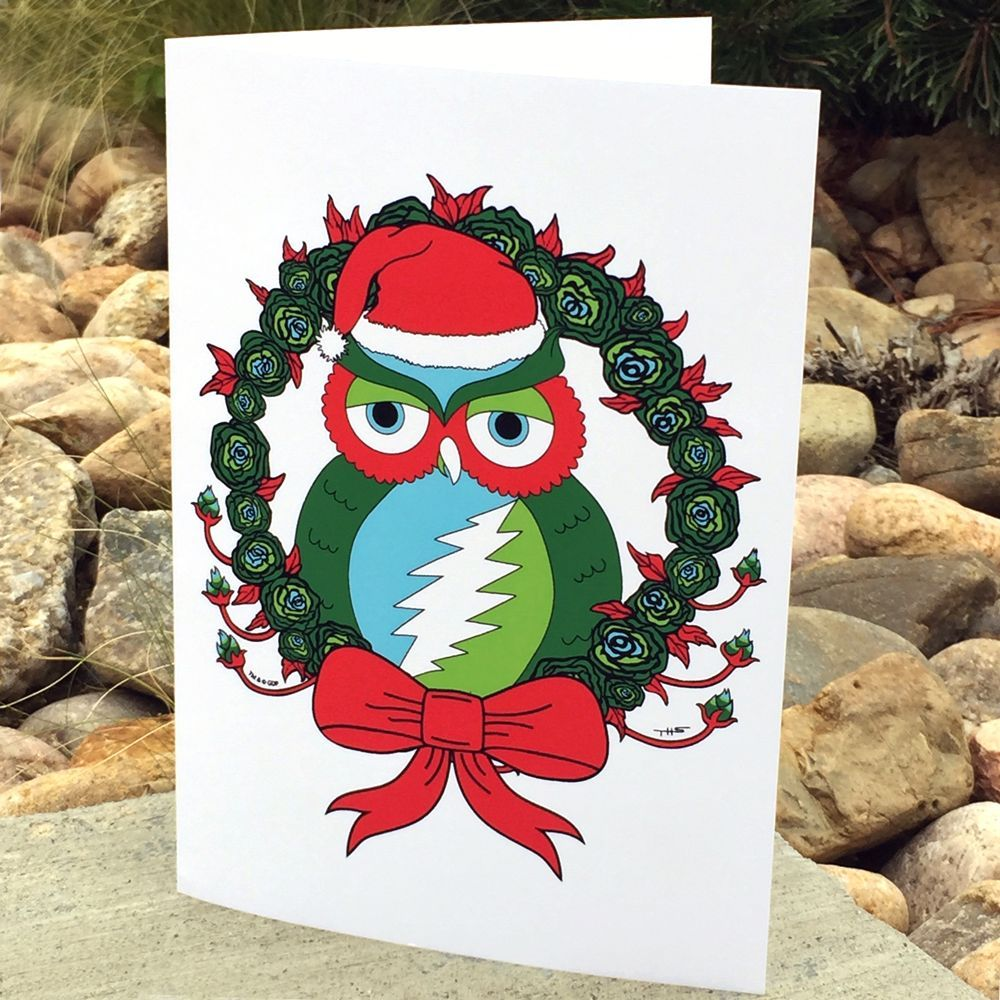 Grateful dead holiday owl greeting card products grateful dead holiday owl greeting card m4hsunfo