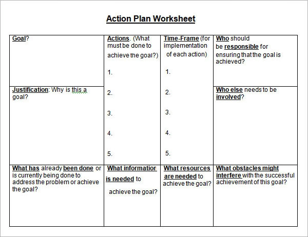 14+ Action Plan Templates Action plan template, Action