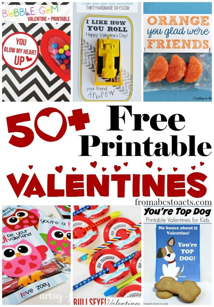Declarative image within free printable valentines for kids