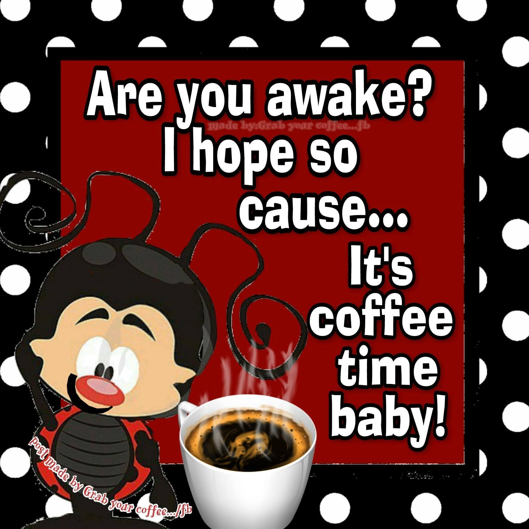 Are You Awake I Hope So Cause It S Coffee Time Baby Pictures Photos And Images For Facebook Tumblr Pintere Coffee Infographic Coffee Time Coffee Tumblr