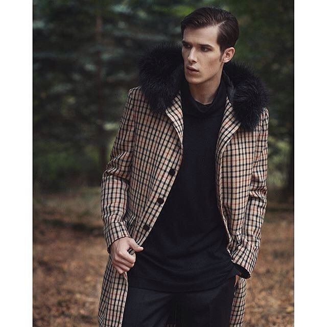 Nice check winter coat by @darkohmenswear || MNSWR style inspiration || www.MNSWR.com