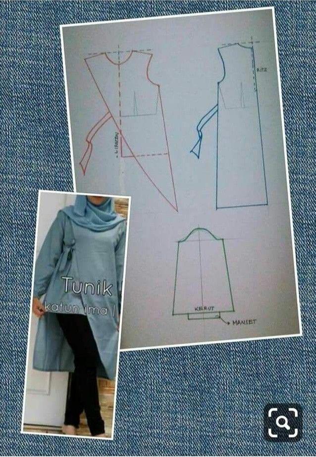 Pola Baju Tunik